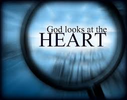 God looks at heart