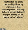 discouragement-Billy Graham quote