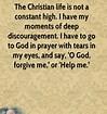 discouragement-Billy Graham quote