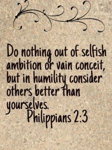 humility philippians 2 3