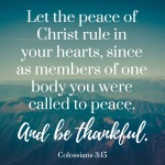peace thankful