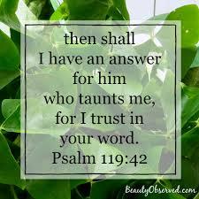 psalm 119 42