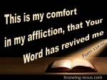 Psalm 119-50 Your Word Has Revived Me brown