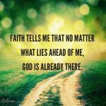 faith tells me