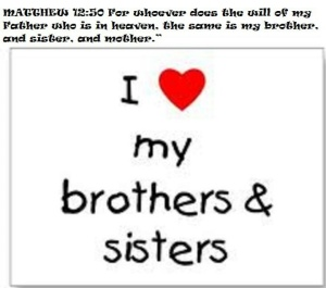 bro and sis in Christ