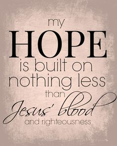 hope jesus blood