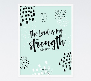 psalm 28 7 strength