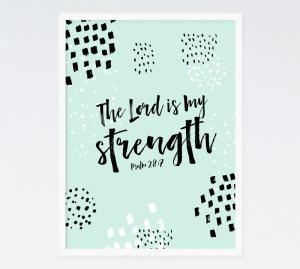 psalm 28 7 strength