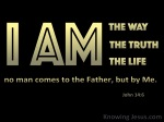 John 14-6 I Am The Way The Truth And The Life black