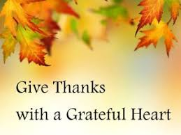 Thanks with grateful heart