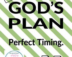 plan and timing God