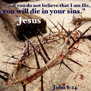 John 8 24 you will die in your sins