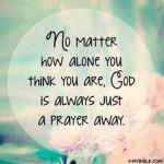 prayer alone
